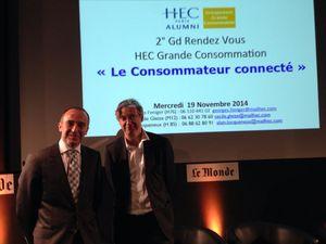 Conférence HEC: Nicolas Bordas et Philippe Guettat décortique le ''consommateur connecté''.