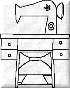 Une machine à coudre vintage