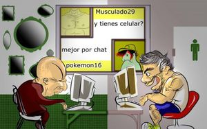 Los gay en los chat.