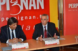 le maire de Perpignan Jean-Marc Pujol et son adjoint à la sécurité de l'époque, Pierre Parrat, aujourd'hui à l'urbanisme!
