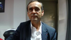 Robert Ménard, au palais des congrès à Perpignan
