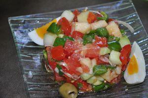 salade crue d'été
