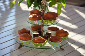 Muffins pommes cannelle gingembre
