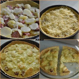 quiche pdt+saucisses