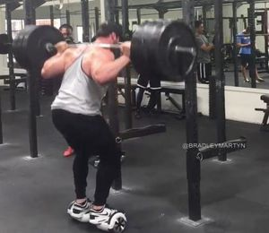 View This Man Squat 315lbs on a 2-Wheeled Scooter