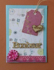 "Carte ""bonheur"""