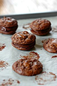Cookies sandwiches tout chocolat