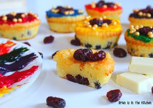 Brownies Chocolat Blanc &amp&#x3B; Cranberry Façon Cupcake - My American Market