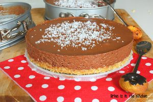 Cheesecake Sans Cuisson Chocolat et Coco