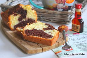 Cake Marbré Chocolat et Grand Marnier