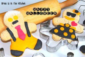 Biscuits Bonshommes au Pain d'Epice aux Couleurs d'Halloween