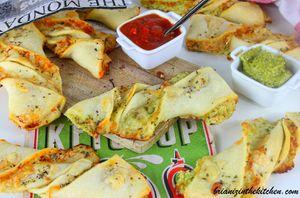 Pizza Twists (Tourbillons) aux Trois Fromages