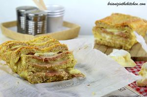 Croque-Cake {Made in Normandy} Jambon &amp&#x3B; Camembert