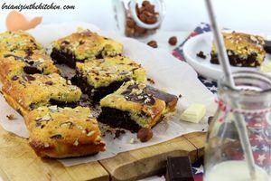 Brownie aux deux Chocolats &amp&#x3B; Noisettes