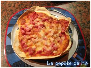 Mini pizzas jambon/fromage/origan