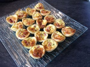 Mini tartelettes lardons fromage