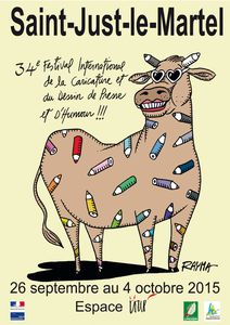 34e Salon International de la Caricature, du Dessin de Presse et d'Humour de Saint-Just-le-Martel : du 27 septembre au 5 octobre 2015