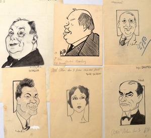 Vente aux enchères : BILS, CABROL et BIB : 3 caricaturistes : une collection de 500 dessins de personnalités des III et IV Républiques