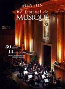 Le concert d'ouverture du 67e Festival de Musique de Menton aura lieu samedi 3o juillet à 21h30, sur le parvis de la Basilique Saint-Michel Archange.