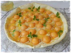 Tarte de melon au fromage frais et au Muscat