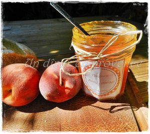 Confiture pêches, abricots &amp&#x3B; vanille