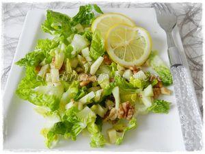 Salade de pommes et noix