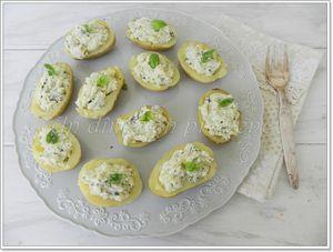 Pommes de terre farcies au mascarpone et au basilic