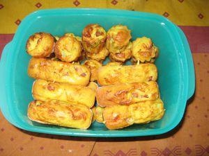 mini muffins au thon ou lardons et aux olives façon méditéranéennes.