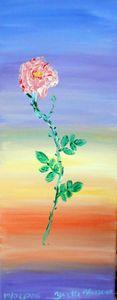 rose (acrylique)