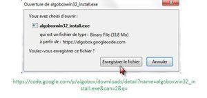 Algobox: Téléchargement
