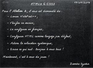 HTML5 & CSS3: Atelier 2
