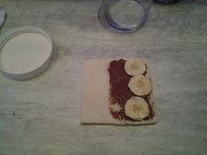 precieux roulés pain perdu nutella banane !