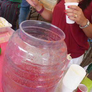 Agua de sabor délice et santé du repas mexicain