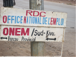 Pencarte de l'office national de l'emploi à son bureau de Bukavu