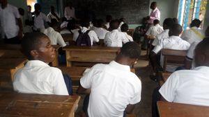 Elèves dans une école te Bukavu