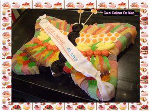 Gâteau de bonbons papillon :