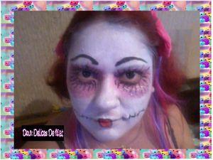 Maquillage poupée maléfique :