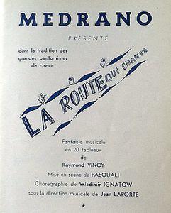 La Route qui Chante, André Dassary chez Medrano