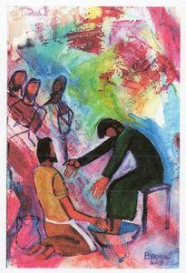 Jésus institue l'amour et le service mutuel