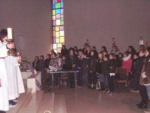 Chemin de croix des enfants à St Nicolas en Forêt