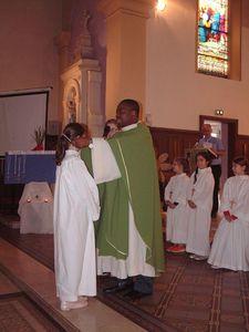 Serémange : remise des croix aux servants d'autel