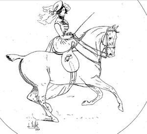 Monte en amazone dans Le chic à cheval 3