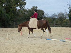 Equitation en cordelette et en amazone