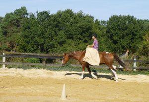 équitation en amazone et cordéo!