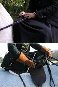 Les gants tenue d'amazone