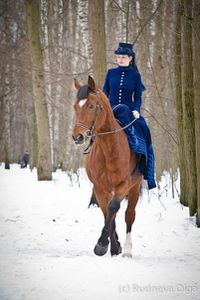 Equitation en amazone et neige suite!
