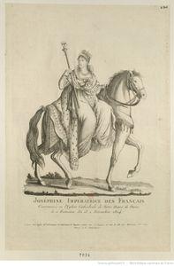 Joséphine impératrice à cheval en amazone