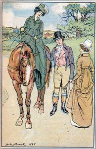 Equitation en amazone chez Jane austen