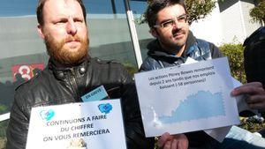 Les salariés de Pitney Bowes se mobilisent à la Plaine contre le plan de licenciements imposé par la rapacité des actionnaires