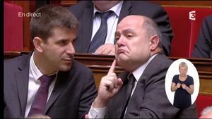 Mathieu Hanotin et Bruno Le Roux.